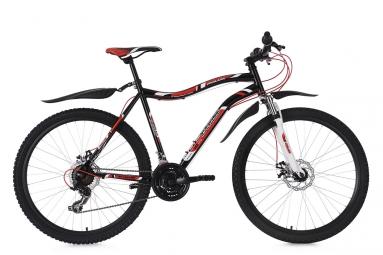 Vtt semi rigide ks cycling phalanx 26 shimano tourney 7v noir rouge 51 cm 165 180 cm