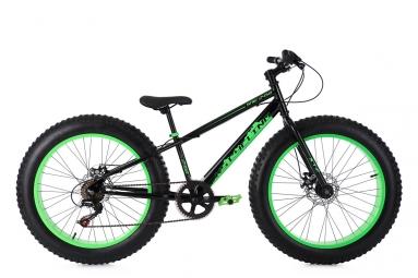 Fatbike Enfant KS Cycling SNW2458 24'' Shimano Tourney 6V Noir Vert
