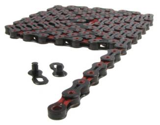 Kmc chaine x10 sl dlc 114 maillons 10v noir rouge