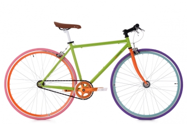 Velo fixie ks cycling essence vert 47 cm 166 174 cm