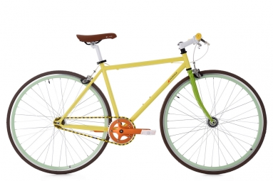 Velo fixie ks cycling essence jaune 47 cm 166 174 cm