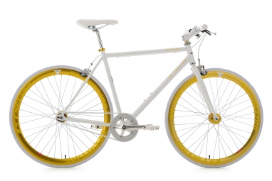 Velo fixie ks cycling pegado blanc or 59 cm 180 190 cm