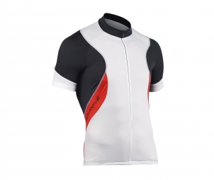NORTHWAVE Maillot Manches Courtes Zip invisible SONIC Blanc