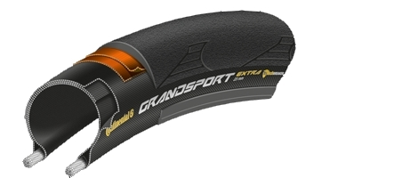 continental pneu grand sport extra noir 23 mm