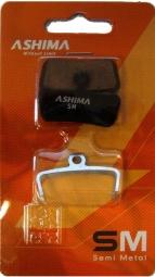 ashima paire de plaquettes avid trail 4 pistons sram guide semi metallique acier