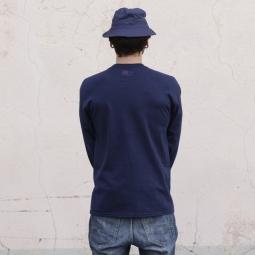 marie jade tee shirt manches longues patch bleu l