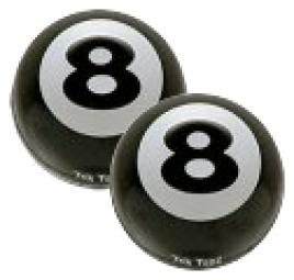 TRIKTOPZ Bouchons de Valves x2 EIGHT BALL Noir