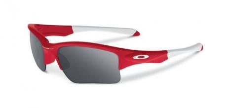 oakley paire de lunettes quarter jacket redline black iridium ref oo9200 08