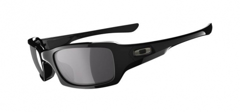 OAKLEY Sunglasses FIVES SQUARED Black/Blacl Iridium Polarized Ref OO9238-06