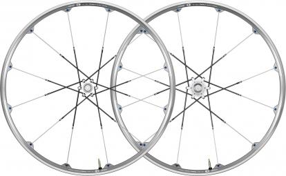 CRANKBROTHERS Paire de roues Cobalt 2 26´´ Axes 15/12x142mm Argent