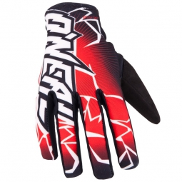 ONEAL Paire de Gants longs MATRIX Noir Rouge
