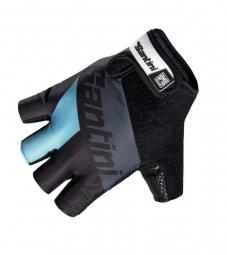 SANTINI 2014 Paire de gants courts DRAGON Noir Bleu