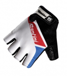 SANTINI 2014 Paire de gants courts UNION Blanc Rouge