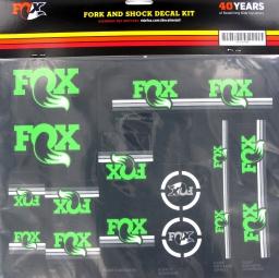 FOX RACING SHOX Kit stickers Heritage Fourche et amortisseur Vert