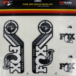 FOX RACING SHOX Kit stickers Heritage Fourche et amortisseur Blanc