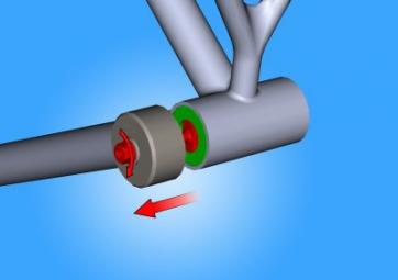 UNIOR Outil pour démonter les roulements de boîtier de pédalier BB90