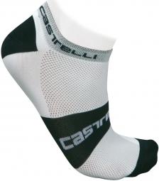 castelli paire de chaussettes lowboy socks blanc noir 35 39