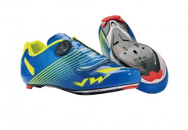 Chaussures Route Northwave TORPEDO PLUS 2014 Bleu jaune Fluo