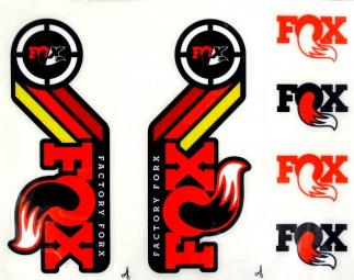FOX RACING SHOX Kit stickers Heritage Fourche et amortisseur Orange