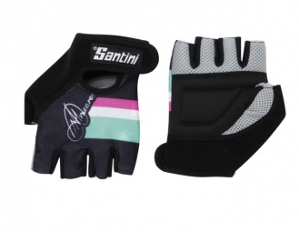 SANTINI Paire de gants courts femme Collection Anna Meares