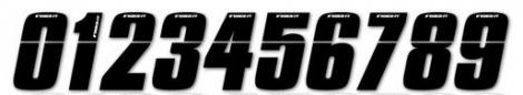 INSIGHT Numéro pour Plaque BMX Noir 10 cm
