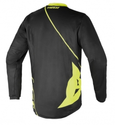 dainese maillot manches longues basanite noir jaune s