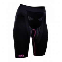 Bv sport cuissard d effort femme nature 3r noir violet l