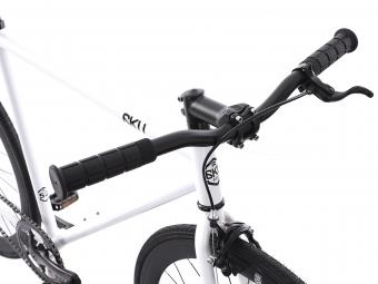 6KU Vélo Complet Fixie EVIAN 2 Blanc/Noir
