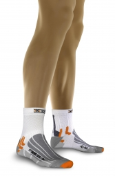 X socks paire de chaussettes bike street wr blanc 35 38