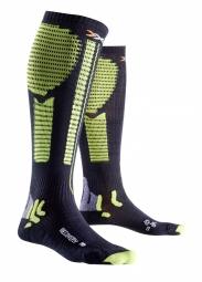 x bionic paire de chaussettes de recuperation effektor recovery noir vert 35 38 s