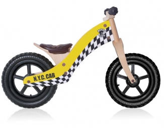 Rebel Kidz Balance Bike BASIC Retro Racer 12'' Noir
