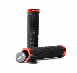 NEATT Race Lock On Grips - Black Red