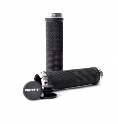 NEATT Race Lock On Grips - Black Silver