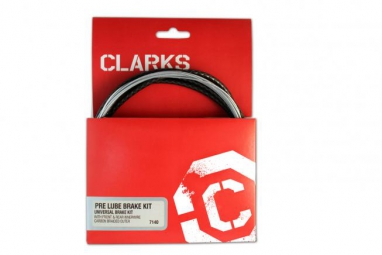 clarks kit complet cables et gaines freins pre lubrifie vtt route noir