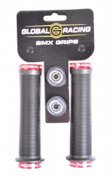 GLOBAL RACING Lock-On Techgrips Black Red