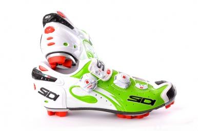 chaussures vtt sidi drako blanc vert 41