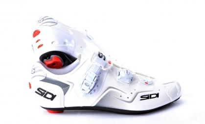 chaussures route sidi kaos blanc vernis 40