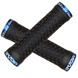 LIZARD SKINS Grips Lock On MOAB Black + lock Blue