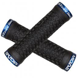 LIZARD SKINS paire de Grips Lock On MOAB Noir + lock Bleu