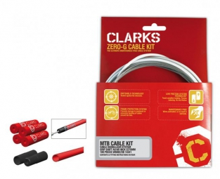 Clarks kit complet cables freins pre lube vtt dirtshield noir