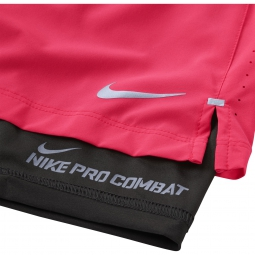NIKE Short 2 en 1 PHENOM 2-IN-1 12,5cm Rose Homme