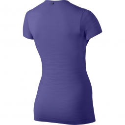 maillot femme nike dri fit knit violet xs
