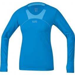 gore running wear maillot femme air 2 0 bleu m