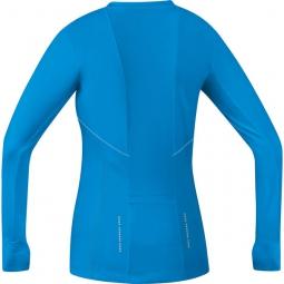 gore running wear maillot femme air 2 0 bleu xs