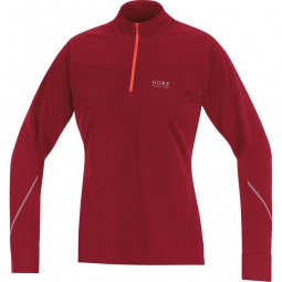 gore running wear maillot femme essential thermo rouge m