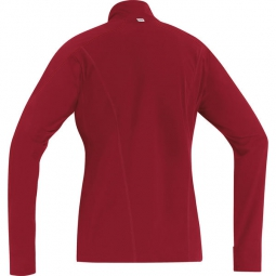 gore running wear maillot femme essential thermo rouge s