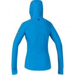 gore running wear maillot femme air lady bleu m