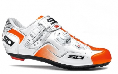 chaussures route sidi sidi kaos blanc orange 45