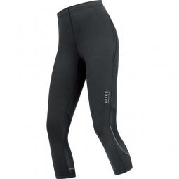 corsaire femme gore running wear essential noir 36