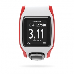 TOMTOM Montre RUNNER CARDIO GPS Blanc Rouge